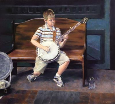 Wakefield, Donna, The Busker, 19x21