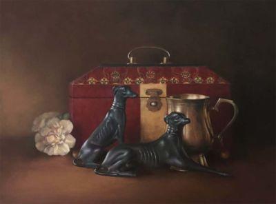Vignal,Kristin-StillLifeWithBronzeHounds-13x18