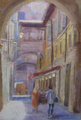Penny Griffin, Strolling in Florence, 12x16
