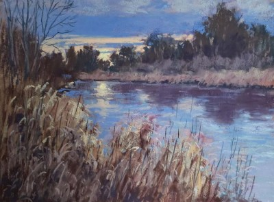 Maria Iva, MPAC, Late Fall Sunset, 9x12