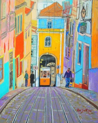 Rae Smith, PAC, Tram-Lisbon, 11x14