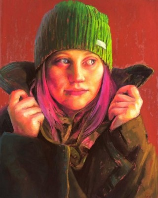 Susan Typert, MPAC, Girl in the Wool Green Coat, 11x13.5
