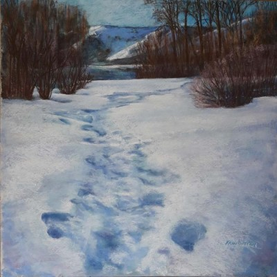 Fran Hutton, PAC, Coulee Snow Trail, 24x24