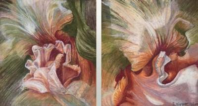 Ruth Wagner, Iris Series 3, 10x18.5