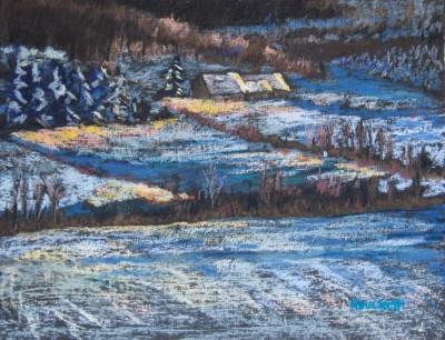 Ann Duckett Or d'hiver 12x14