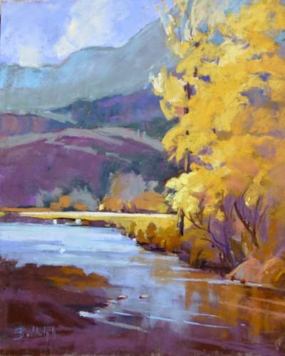 Beverley Biddulph PAC Cache Creek Autumn, 11x9
