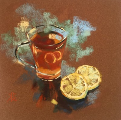 Elena Selitsky Tea time 8x8