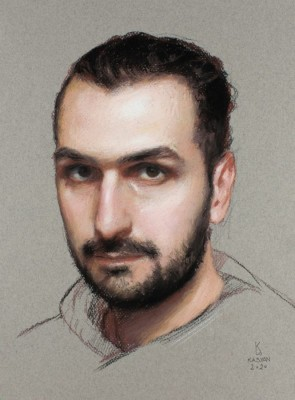 Alex Kasyan Self Portrait at 36, 9.5 x 13.5